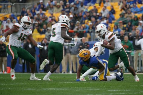 Pitt football fell to No. 13 Miami Hurricanes Saturday with a 31-19 loss.