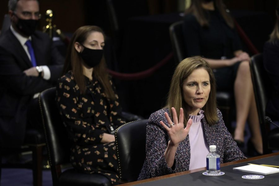 Judge Amy Coney Barrett is President Donald Trump's nominee to the Supreme Court.
