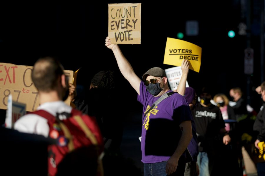 Photos: Downtown Protests in Election Aftermath