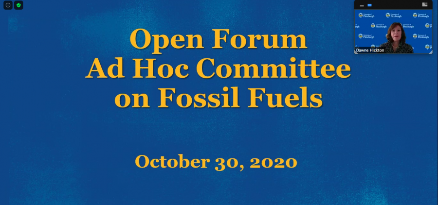 The Ad Hoc Committee on Fossil Fuels held an open forum Friday morning to allow students, faculty and alumni to provide feedback about the University's $4.3-billion endowment.