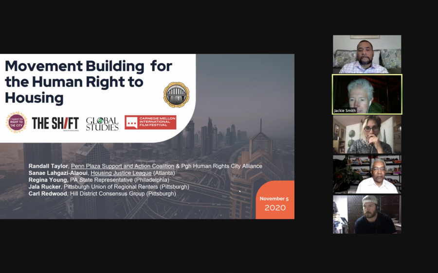 "The U.S. Human Rights Cities Alliance and Pittsburgh Human Rights Working Group hosted an event titled ""Housing Justice, Human Rights and Health Webinar: Engaging Locally"" with Leilani Farha on Thursday night."