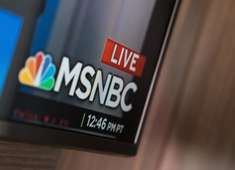 MSNBC station on television.