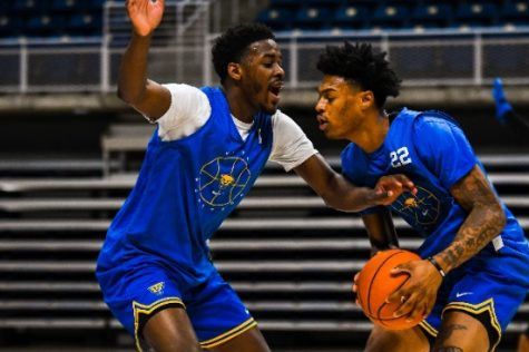 Pitt senior guard Nike Sibande transferred from Miami (Ohio) to the University of Pittsburgh this past summer.