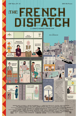 """The French Dispatch"" is Wes Anderson's 10th film."