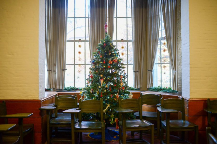 The Swedish Nationality room, decorated for the holiday open house in December 2018.