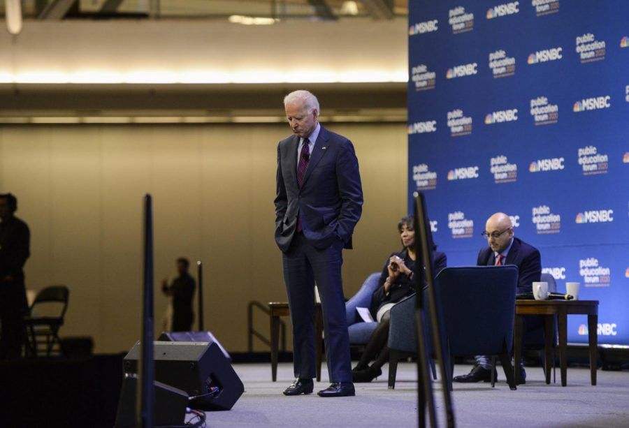 Then-presidential candidate Joe Biden at MSNBC's Public Education Forum in December 2020.