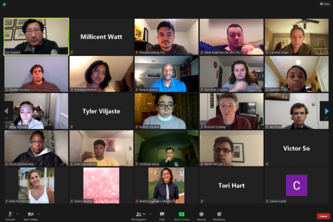 Student Government Board hosted a virtual community check-in with Kenyon Bonner, the vice provost and dean of students, and Dr. Joe Suyama, a member of the CMRO, to discuss and answer questions regarding the spring semester.