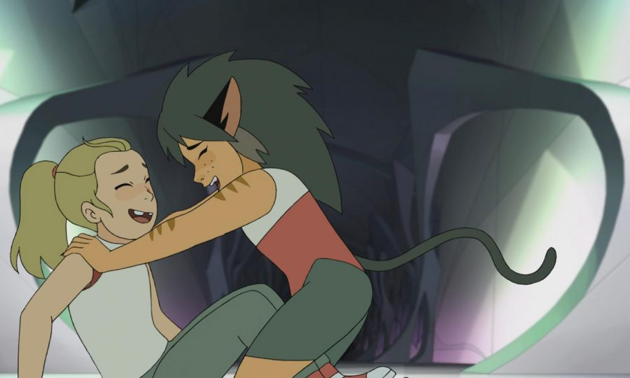 "Adora and Catra from the show ""She-Ra and the Princesses of Power."" (Netflix/TNS)"