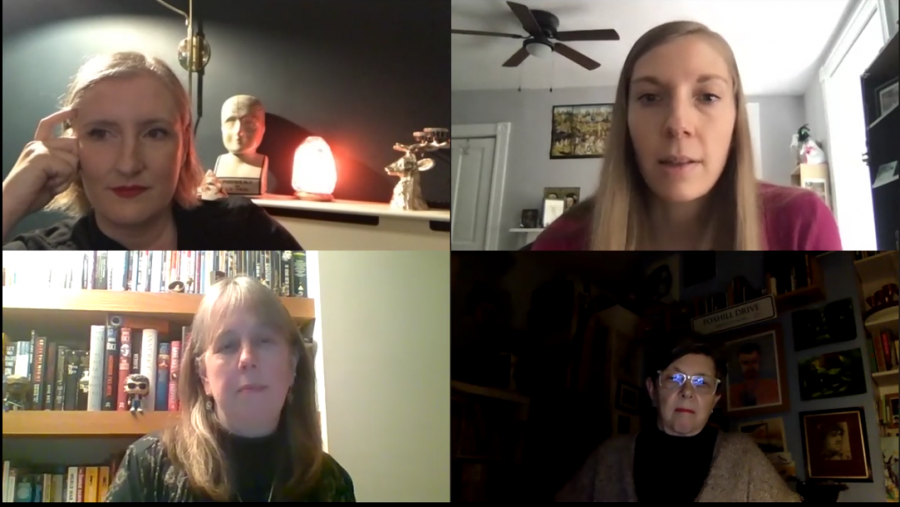 Lesley+Manning%2C+the+director+of+%E2%80%9CGhostwatch%2C%E2%80%9D+joined+a+panel+of+horror+experts+on+Friday+to+discuss+the+impact+of+the+film.+Sonia+Lupher%2C+a+visiting+lecturer+in+film+and+media+studies+at+Pitt+and+the+founder+and+editor+of+%E2%80%9CCut-Throat+Women%3A+A+Database+of+Women+Who+Make+Horror%2C%E2%80%9D+organized+the+event.
