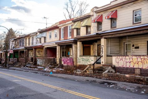 """According to a petition, the houses at 3401-3421 Bates St. and 392 Coltart Ave. near Boulevard of the Allies are a """"public nuisance"""" due to their dilapidated and uninhabited state."""