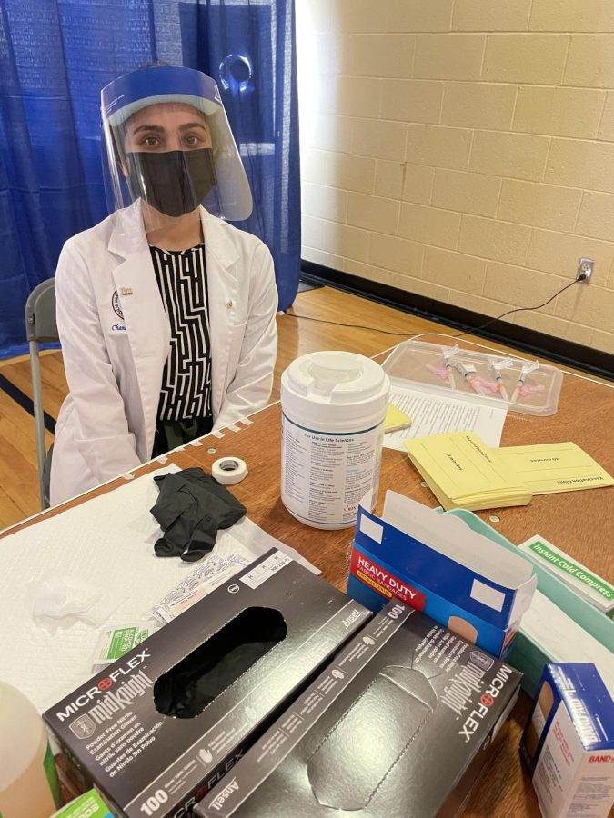 Chandrima Saha and a few pharmacy school peers administered COVID-19 vaccines to senior citizens on Feb. 5 and Feb. 6.