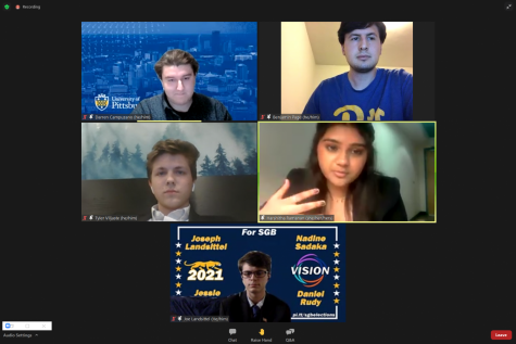 Pitt's Student Government Board held its presidential debate over Zoom Thursday night.