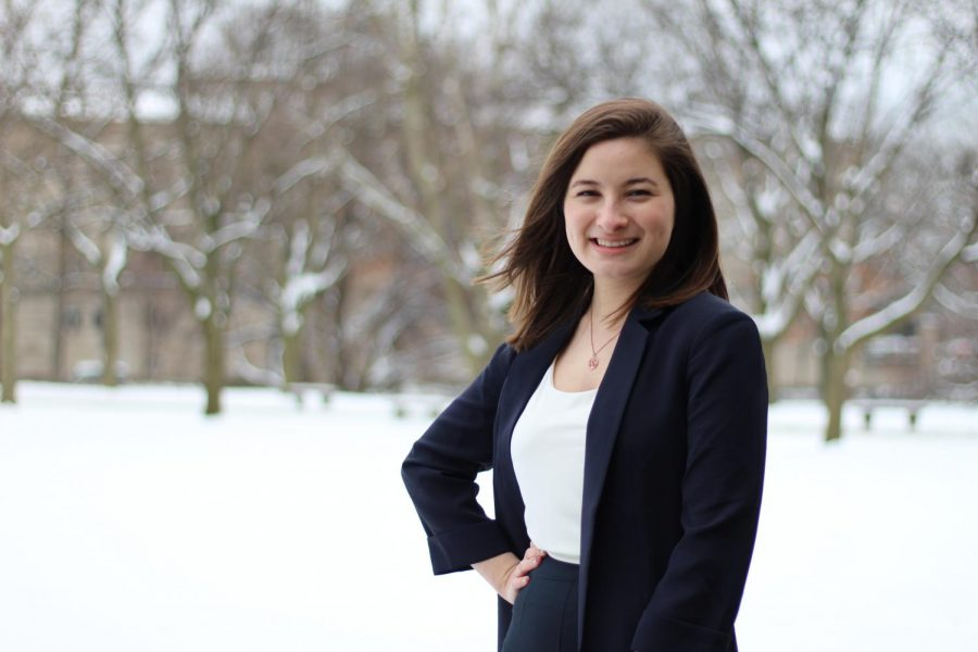 Samantha Schatten, a senior political science major, is the deputy campaign manager for Bethani Cameron's campaign for city council.
