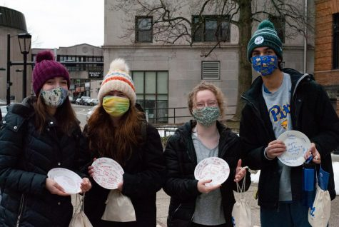 Pitt's University Counseling Center provided Self-Care Day activities like the SMASH Mobile Rage Room, where students wrote down their stressors on a plate before smashing them.