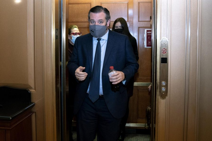 Sen. Ted Cruz, R-Texas, flew to Cancun Wednesday while many of his constituents in Texas struggled through an unprecedented crisis. (Stefani Reynolds/Pool/Getty Images/TNS)