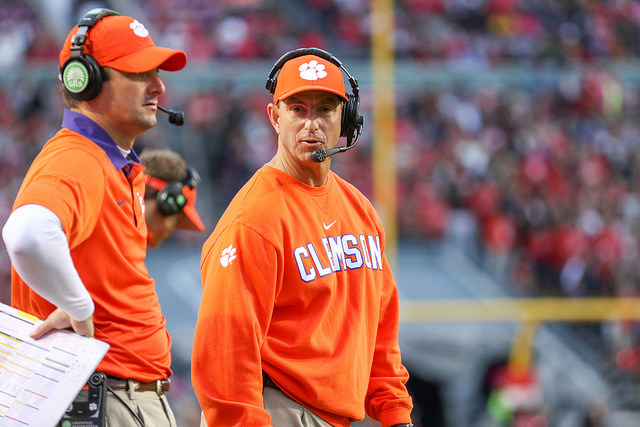 Dabo Swinney, head coach of the Clemson Tigers.