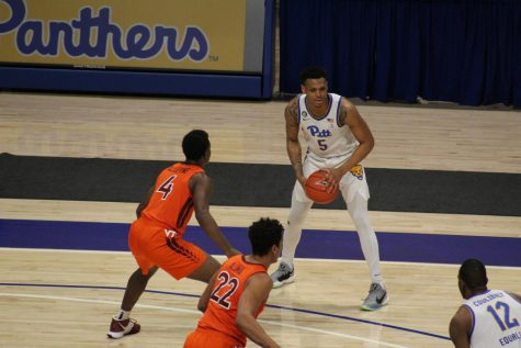 Au'Diese Toney pictured against Virginia Tech on Feb. 4.
