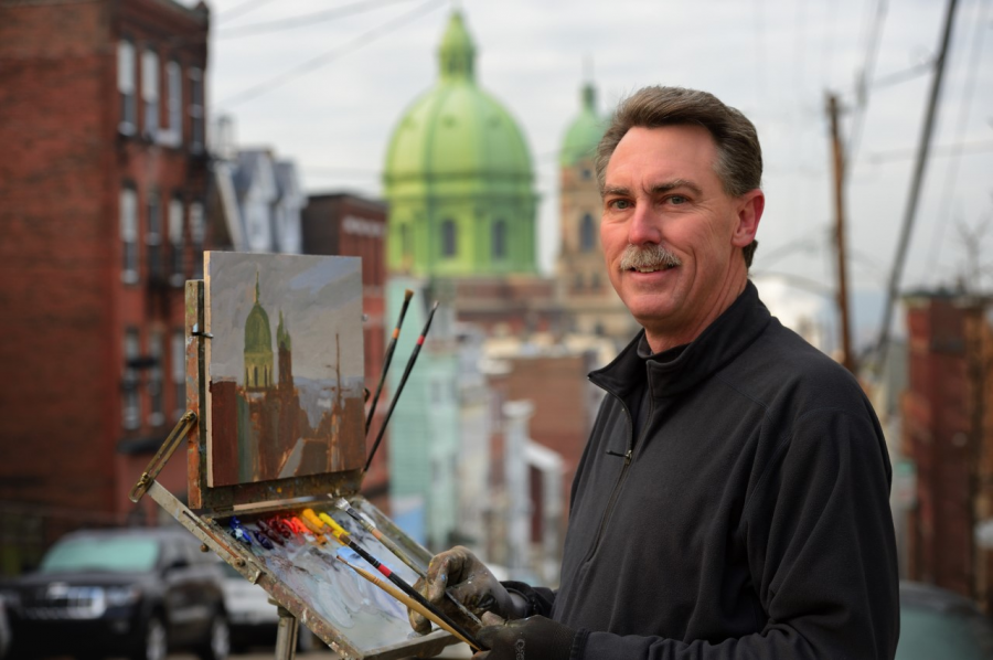 Ron+Donoughe%E2%80%99s+new+book%2C+%E2%80%9CBrownsville+to+Braddock%2C%E2%80%9D+is+a+collection+of+landscape+paintings+of+the+Monongahela+Valley.