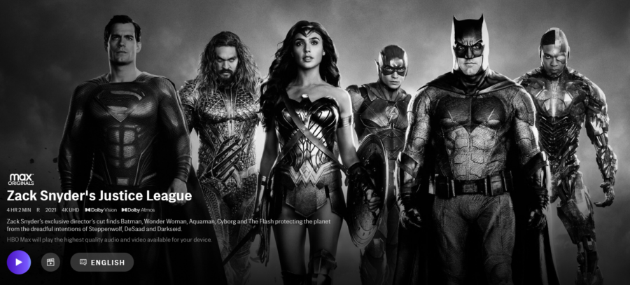 "HBO Max released ""Zack Snyder's Justice League"" on March 18."