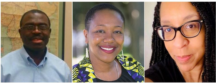 Eric Beeko, Yolanda Covington-Ward and Michele Reid-Vazquez (left to right) each teach in the Africana Studies department.