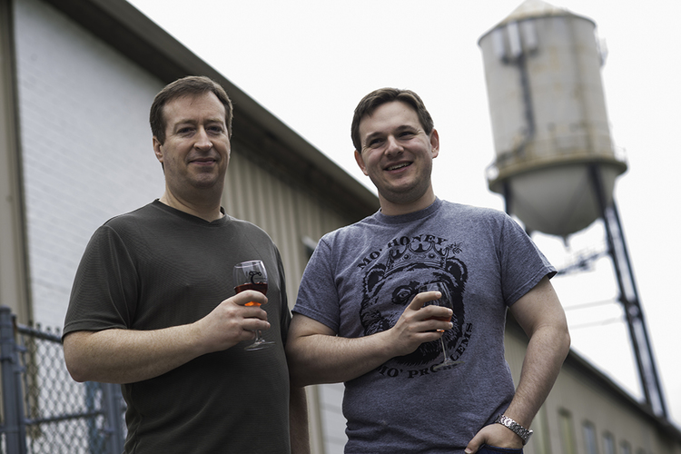 Greg Heller-LaBelle (right) graduated from Pitt in 2006 and now owns Colony Meadery in Allentown.