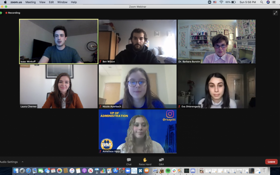 Pitt Hillel and Resident Student Association hosted the first of a four-part town hall series Sunday evening, with this week's conversation revolving around a Q&A session with local Jewish activists.