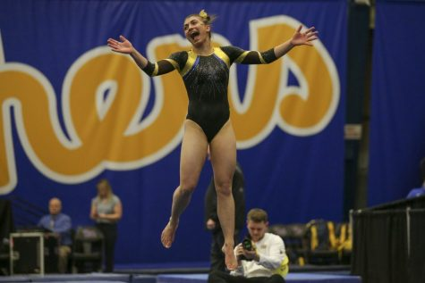 Junior gymnast Olivia Miller