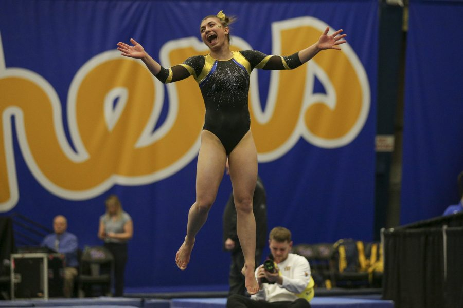 Junior gymnast Olivia Miller