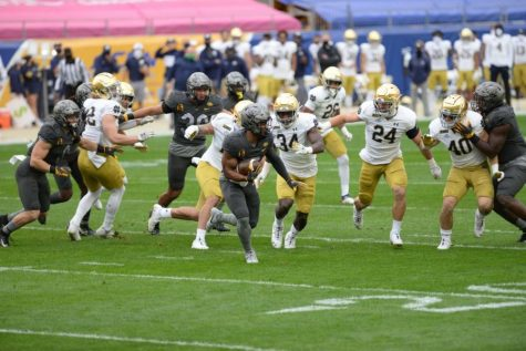 Pitt fell 45-3 during its game against Notre Dame on Oct. 24.