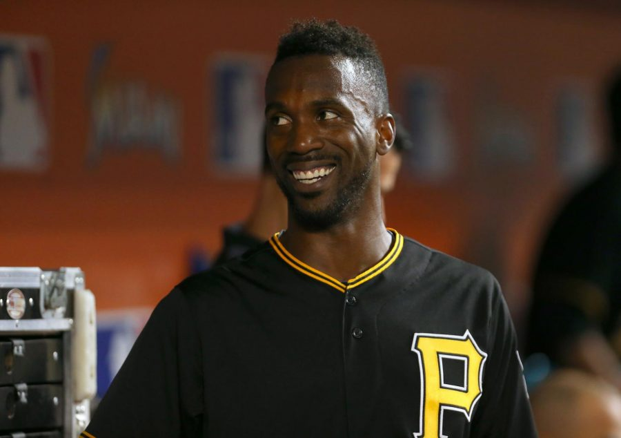 The Pittsburgh Pirates' Andrew McCutchen shown on Aug. 26, 2015, at Marlins Park in Miami.