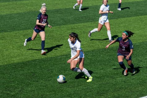 Pitt women's soccer played its first game since Nov. 1, 2020, at Ambrose Urbanic Field on Sunday. Pitt defeated its crosstown rivals, the Duquesne Dukes, with a score of 3-0.