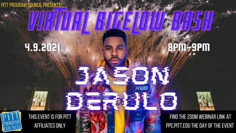 Due to COVID-19 restrictions, PPC will hold this year's Bigelow Bash with Jason Derulo via Zoom Friday at 8 p.m. Derulo, a singer, songwriter, dancer and entertainer, is a top artist with more than 12 billion global streams and 190 million singles sales.