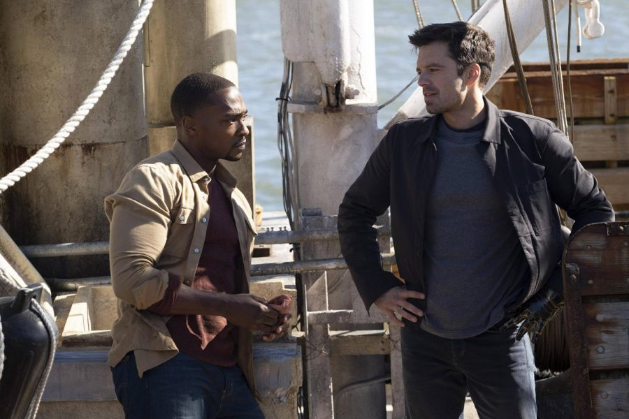 """Disney+'s """"The Falcon and the Winter Soldier"""" with Anthony Mackie, left, and Sebastian Stan."""