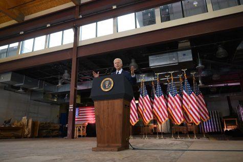 President Joe Biden speaks in Pittsburgh on March 31, 2021.