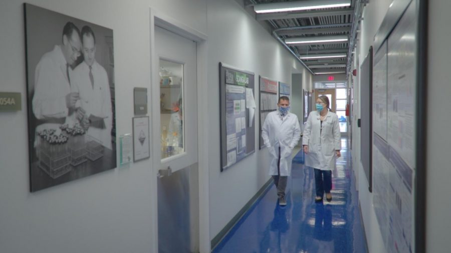 """The film """"CHASING COVID"""" follows the work of Dr. Paul Duprex and his team in Pitt's Center for Vaccine Research, where they have been working to uncover new information about COVID-19."""