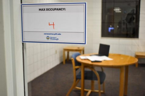 Pitt enacted shelter-in-place guidelines on March 31 in response to a spike in COVID-19 cases among students, which included the closure of study spaces in residence halls and lounges and decreased library operating hours.