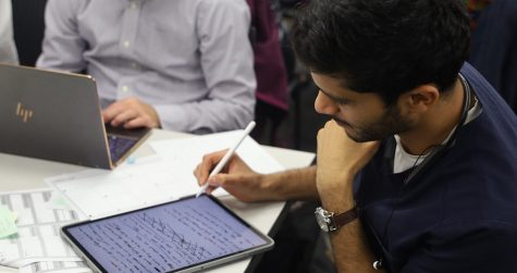 """Sohail Rana, who is in his last year as a dental student, and his team started working together in early January 2020 and officially formed their startup company — ZeroDK — in May 2020. ZeroDK, a pun on the phrase """"zero decay,"""" combines the use of a toothbrush holder with a smartphone app that tracks how long users brush and floss their teeth."""