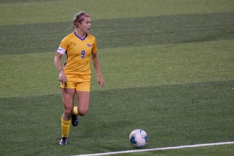 Pitt star forward Amanda West was named ACC Women's Soccer Player of the Week on Tuesday for her performance in the Panthers' final game of the regular season against Kentucky.