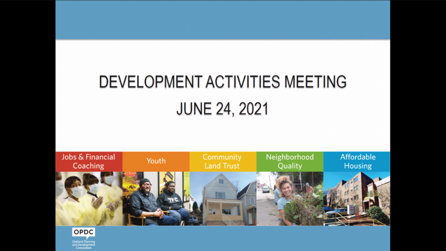 The Oakland Planning and Development Corp.'s June 24 meeting discussed the pending demolition of the rowhouses located at 3401-3421 Bates St. and transferral of the property to Pitt.