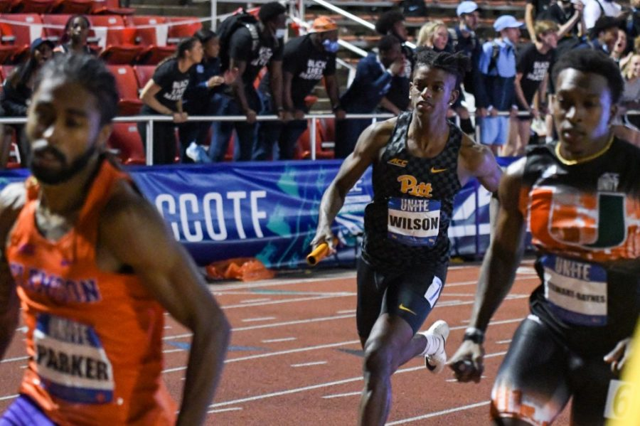 Matt Wilson, pictured, is one of four Panthers that will compete in the 4x400m relay event at the National Outdoor Track and Field meet in Oregon on Wednesday.