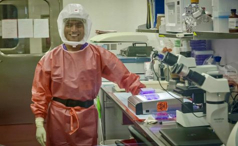 Dr. Shamkumar Nambulli, a researcher from the Center for Vaccine Research, worked on the delivery of the nanobodies to hamsters to fight against COVID-19 and neutralize the virus' effect on the body.