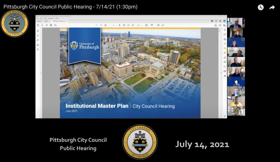 Pitt+officials+presented+the+Universitys+Institutional+Master+Plan+to+the+City+Council+on+Wednesday+afternoon.