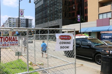 Sheetz officials said Monday that the company is not affiliated with the posted signs and has no plans to develop at 3500 Forbes Ave.