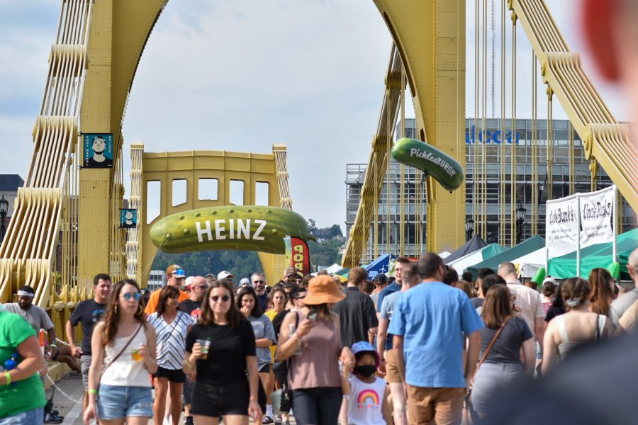 Picklesburgh, held Aug. 20-22 Downtown, featured vendors, live music and a 35-foot-long Heinz pickle balloon.