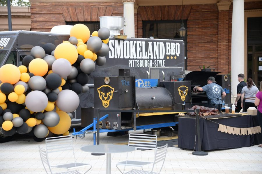 Pitt's new Smokeland BBQ food truck at a launch event in front of the William Pitt Union on Friday afternoon.