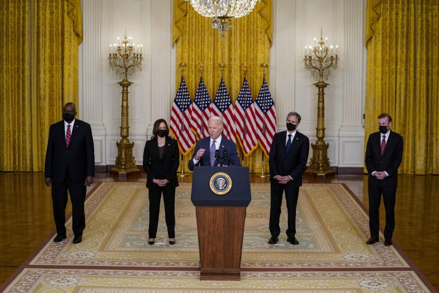 President Joe Biden delivers remarks on the evacuation of U.S. citizens and their families, SIV applicants and their families and vulnerable Afghans from Afghanistan in the East Room of the White House on Friday, Aug. 20, 2021, in Washington, D.C.