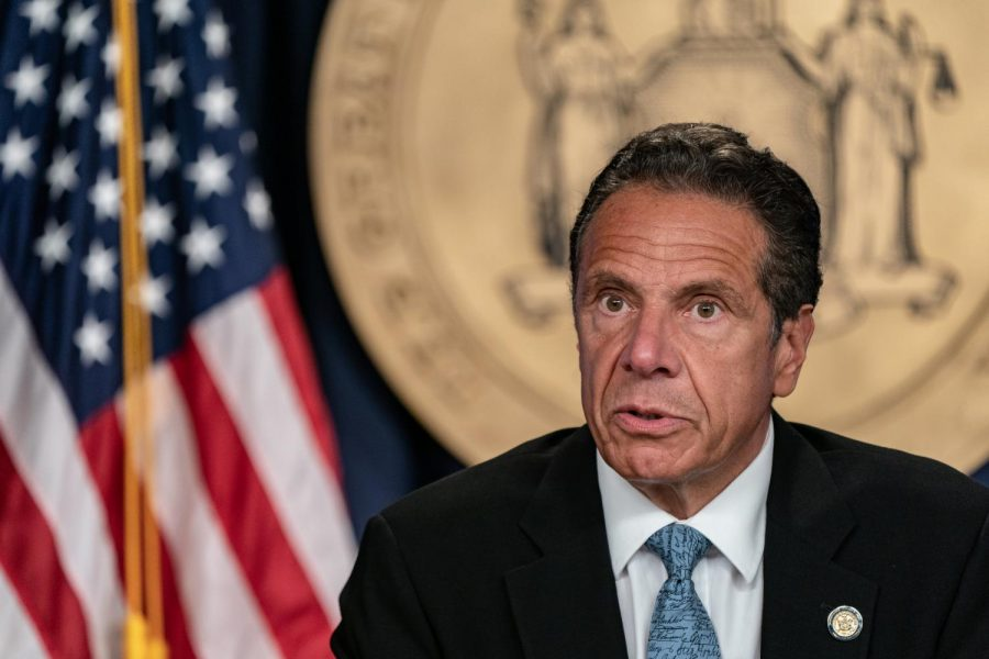New York Gov. Andrew Cuomo speaks during the daily media briefing at the Office of the Governor of the State of New York on July 23, 2020, in New York City.