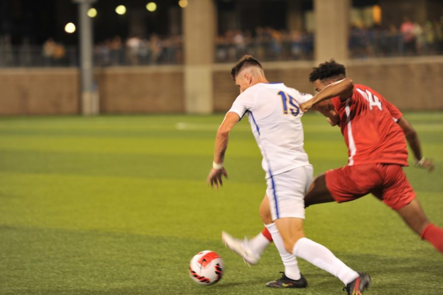No. 3 Pitt men's soccer defeated the Dukes 7-0 during their opening season game at Ambrose Urbanic Field on Thursday night.
