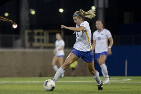 Pitt women's soccer handily defeated the Cleveland State Vikings by a score of 5-0 in its home opener on Thursday afternoon.