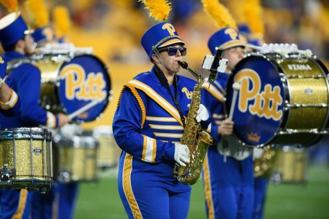 Victoria Bistarkey, a former alto saxophone section leader who graduated last May, was responsible for maintaining a positive environment during her section's Zoom rehearsals last year. She is now pursuing a master's degree in social work at Pitt.